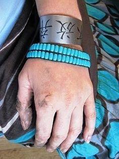 turquoise bracelet #bracelet #turquoise #rope