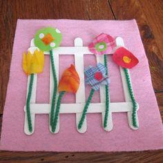 Fabric Scrap Flower Garden
