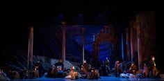 Carmen. By Georges Bizet. Directed by Lilian Groag. Set Design by Paul Shortt. Costume Design by Eduardo V. Sicangco. Opera Omaha, 2013. Photograph byJames Scholz.