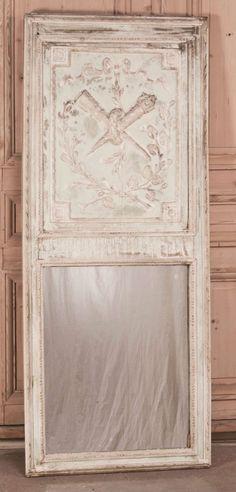 Antique French Louis XVI Painted Trumeau image 2