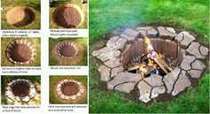 building a fire pit How To Build A Fire Pit, Diy Fire Pit, Square Fire Pit, Fire Table, Outdoor Living, Outdoor Decor, Backyard, Deck Patio, Vegetable Garden