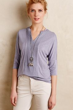 Pleat-Line Top #anthropologie