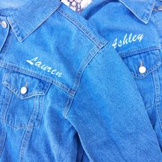 IF YOU DON'T HAVE MATCHING BFF JACKETS, ARE YOU EVEN BFFS? SMH  / Stitch Bitch online custom embroidery for denim jackets, dad caps, and tops! Custom embroidered clothing makes the perfect unique gift for women!