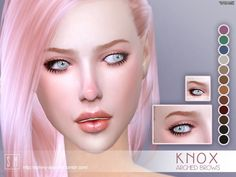 The Sims Resource: Knox - Eyebrows by Screaming Mustard • Sims 4 Downloads