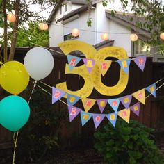 Homemade birthday decor!! 50th Birthday Party, Birthday Ideas, Provident Living, Homemade Birthday, Birthday Decorations, Party Planning, Celebrations, Birthdays, Diy Crafts
