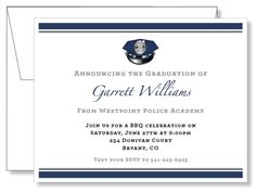 Custom Police Academy Graduation Announcements by laurieattheden
