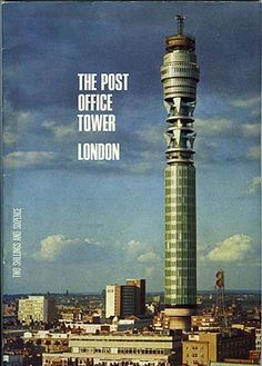 Cover art for The Post Office Tower London, a guidebook detailing the history of the building up to its opening in 1964 and beyond, United Kingdom, by the General Post Office (GPO). Great Fire Of London, The Great Fire, Vintage London, Old London, Swinging London, White Heat, London Pubs, Tower Of London, London Calling