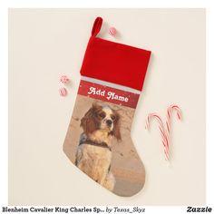 Blenheim Cavalier King Charles Spaniel Dog Christmas Stocking Christmas Animals, Christmas Dog, Cavalier King Charles Spaniel, Pet Christmas Stockings, Santa Claus Is Coming To Town, Spaniel Dog, Christmas Card Holders, Pets, Animals And Pets