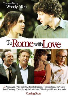 27 de noviembre: To Rome with Love (2012) de Woody Allen. Serie de historias paralelas y entrelazadas donde el director se atreve nuevamente a protagonizar. Es una más de sus películas de una Europa idealizada, recurriendo a sus habituales tópicos propios del director. Los cuales ya nos resultan gastados y a veces arcaicos. Tiene buenas interpretaciones, pero se abusa en estereotipar a Roma más de la cuenta. https://www.youtube.com/watch?v=oboXO4b-r6o