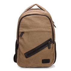 Sale 27% (22.09$) - Men Vintage Retro Style Canvas Casual Backpack Laptop Bag