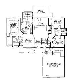 Craftsman House Plan First Floor 043D 0030
