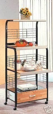 Black Microwave Cart With Power Strip, Garden, Lawn, Maintenance > Power Strip Included 4 Shelves with Natural Finish Pull-Out Middle Shelf and Drawer Check more at http://farmgardensuperstore.com/product/black-microwave-cart-with-power-strip-garden-lawn-maintenance/
