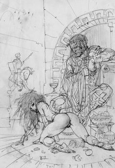 Pencils, Inks & Sketches – The Art of Simon Bisley Simon Bisley, Comic Book Artists, Comic Books Art, Fantasy Kunst, Fantasy Art, Futurism Art, Horror Artwork, Drawing Sketches, Drawings