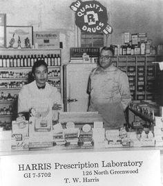 Harris Prescription Laboratory. Greenwood Tulsa. Black Wall Street Pioneers. #GreenwoodExperience