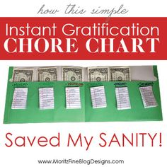Instant Gratification Chore Charts Saved My Sanity