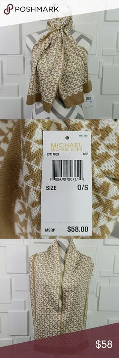 🔴LAST 1🔴MICHAEL KORS SCARF TAN / CREAM 100 %Authentic MICHAEL Kors  Brand new with tags  Fabulous & chic Michael Kors tan & cream scarf. Make this fabulous SCARF a staple item for your winter wardrobe or give it as a gift to someone you care for!  More fabulous MK accessories in my closet   Christmas holiday stocking stuffers present birthday anniversary hat beanie MK gift Michael Kors Accessories Scarves & Wraps