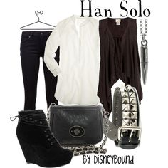 Han Solo, I'd wear it just because it was inspired by Star Wars LOL It's a cute outfit really