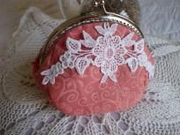 Metal frame purse, Coin purse handmade