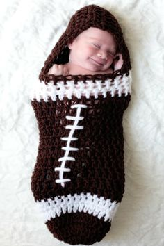 Crochet Football Cocoon free | GIVEAWAY #5 - Pink Pumpkin Crochet Studio Football Cocoon *CLOSED*