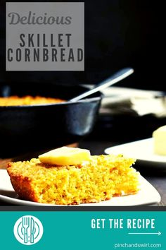 True Southern Style Skillet Cornbread is tender and light inside and buttery crisp on the outside. It's taken me years to perfect this recipe and I'm so excited to share it! (yeastless, no yeast bread) Potluck Side Dishes, Side Dishes Easy, Cast Iron Skillet Cornbread, Best Cast Iron Skillet, No Yeast Bread, Quick Healthy Meals, Country Cooking, Southern Recipes, Southern Style