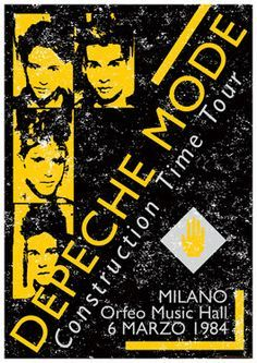 Depeche Mode Concert Poster https://www.facebook.com/FromTheWaybackMachine