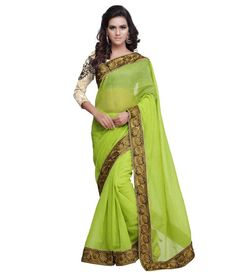 Sareemall Green Cotton Saree
