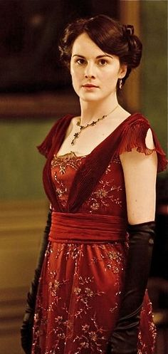 Downton Abbey's red dress - made from a turn-of-the-century… #modelcitizenapp #modelcitizenmag #modelcitizenmedia #urfolios