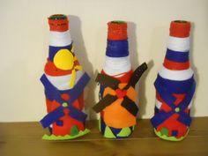knutsel-meiden: fles versieren