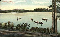 Tuxbury's Pond Amesbury, MA Postcard