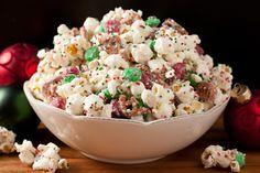 Christmas Crunch {Funfetti Popcorn Christmas Style} - Cooking Classy