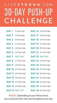 Beef up your chest, abs and arms with our 30-Day Push-Up challenge! Lets. Get. FIT.