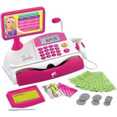 Barbie Shopping Spree Cash Register, a lovely idea for my niece! Toy Cars For Kids, Toys For Girls, Kids Toys, Barbie Doll Set, Barbie Party, Little Girl Toys, Baby Girl Toys, Kids Grocery Store, Barbie Playsets