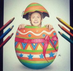 Cas: Happy Easter everyone! Nail Horan, One Direction Art, Happy Easter Everyone, My Guardian Angel, Dance With You, Lovely Smile, Creative Pictures, Leprechaun, Cool Artwork