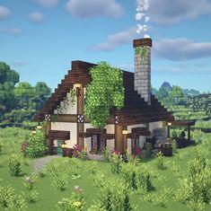 Minecraft Building Blueprints, Minecraft Houses Survival, Easy Minecraft Houses, Minecraft House Tutorials, Minecraft Plans, Minecraft House Designs, Minecraft Creations, Minecraft Projects, Minecraft Crafts
