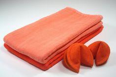 Orange Burp Cloth Set- Beautiful Baby Shower Gift - pinned by pin4etsy.com