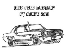 1964 Mustang Coloring Pages Mustangs Pinterest