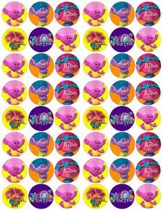Trolls bottle caps Trolls Birthday Party, Troll Party, Birthday Favors, 3rd Birthday Parties, Birthday Bash, Girl Birthday, Los Trolls, Bottle Cap Crafts, Bottle Caps