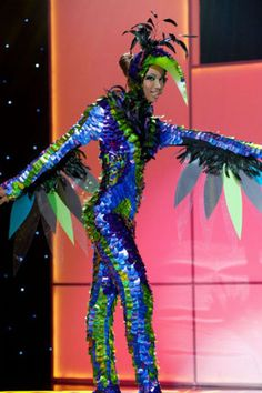 <b>Expect Lady Gaga to be copying some of these fabulously over the top ensembles.</b> Part of the Miss Universe pageant held September 12th, each contestant is expected to create a costume that captures the essence of her home <strike>planet</strike> country.