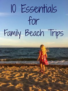10 Essentials for a Family Trip to the Beach! #beach #beachtrip #kids #familytrips #ebayguides #socialmoms