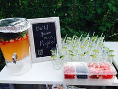Make your own mojitos bar at an engagement party