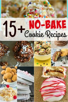 Amazing no bake cookie recipes that kids can make (plus, gluten-free and dairy-free options too!).