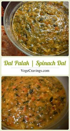 Dal Palak, healthy indian curry made from lentils and spinach, with a very subtle garlicky flavor. #vegan recipes   Recipe with Step By Step Photos