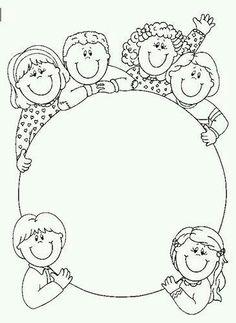 Tipss und Vorlagen: Frame and Coloring Page for kids Nastenka v skolke