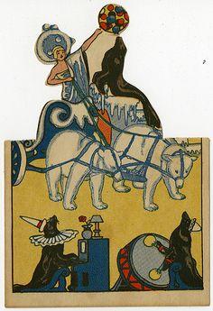 Seals and polar bears circus card, 1922 Circus Crafts, Circus Art, Circus Theme, Vintage Circus Posters, Carnival Posters, Vintage Carnival, Planners, Vintage Illustration, Bear Card