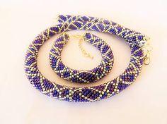 alzbetina / sada šperkov strieborná v zajatí modrej metalizi