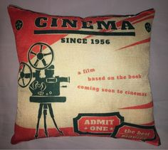 cinema movie cushion cover home decor Pillow Square Cotton Throw Pillow Case #Unbranded