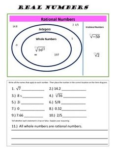 Worksheets Classifying Real Numbers Worksheet pinterest the worlds catalog of ideas a great review and practice for understanding classifying numbers into real irrational