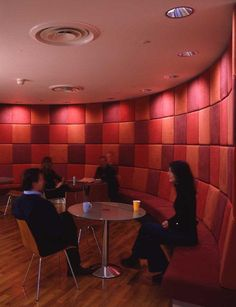 Break Out Room With Acoustical Panels. Great Idea To Make A Mosaic Pattern  With Them