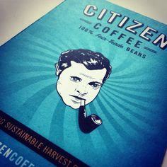 Throwback to our postcard design for Citizen Coffee featuring Orson Welles. #illustration #design