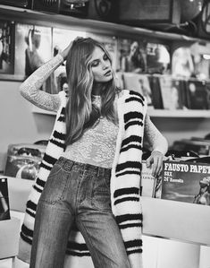 70S DENIM STYLE - ANNA SELEZNEVA fashion editorial